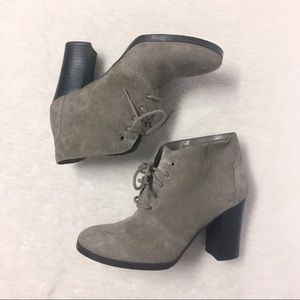 Franco Sarto Suede Ankle Heel Boots Size 6.5  Fall